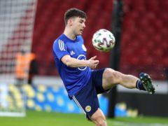 Scotland's Kieran Tierney faces a fitness race (Andrew MIlligan/PA