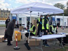 Coronavirus surge testing on Clapham Common, south London (Michael Bedigan/PA)
