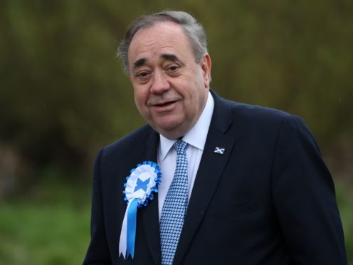 Alex Salmond addressed Alba Party members on Friday (Andrew Milligan/PA)