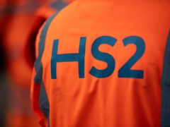 HS2's costs have reportedly jumped by another £1.7 billion in the past year as the coronavirus pandemic adds further pressure to the high-speed railway project (Jacob King/PA)