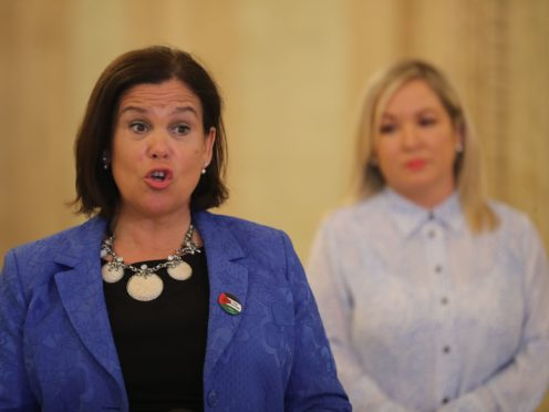 Sinn Fein's leader Mary Lou McDonald (left) with deputy First Minister Michelle O'Neill (PA)