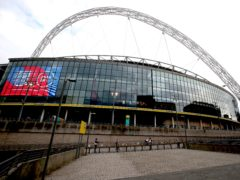 Wembley's capacity for the Euro 2020 semi-finals and final has been increased to allow more than 60,000 fans to attend (Nick Potts/PA)