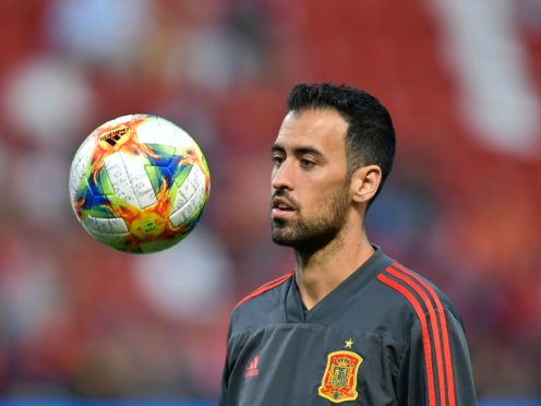 Spain's Sergio Busquets has tested positive for coronavirus (Alvaro Barrientos/AP)