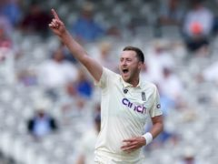 Ollie Robinson took two wickets for England (Adam Davy/PA)