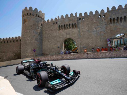 Lewis Hamilton will start second in Sunday's Azerbaijan Grand Prix (Darko Vojinovic/AP)