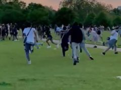 Disorder in Hyde Park (Met Police/PA)