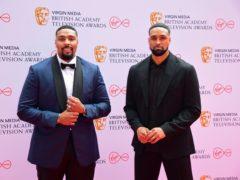 Jordan (left) and Ashley Banjo arrive for the Virgin Media BAFTA TV awards (Ian West/PA)
