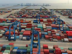 China's exports surged nearly 28% in May while imports jumped 51% as demand rebounded in the US and other markets (Chinatopix/AP)