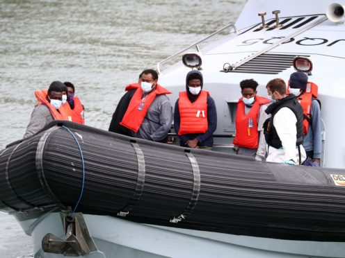 Migrants are brought in to Dover following a small boat incident in the Channel this week. Kent County Council says its has reached its limit on the number of unaccompanied child migrants it can look after (Gareth Fuller/PA)