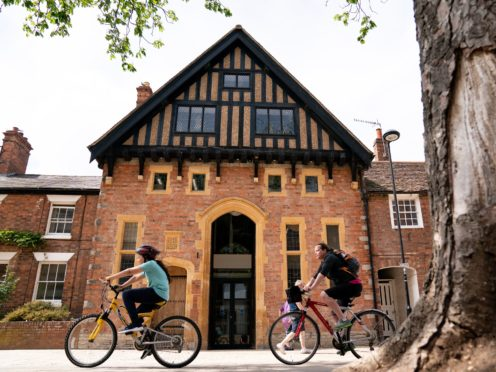 The restored and redeveloped Royal Shakespeare Company costume workshop in Stratford-upon-Avon (Jacob King/PA)
