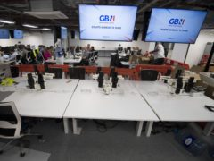The GB News newsroom preparing for launch (Kirsty O'Connor/PA)