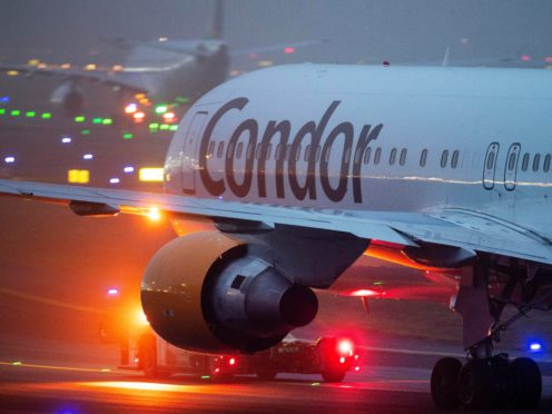A Condor aircraft in Frankfurt, Germany (Michael Probst/AP)