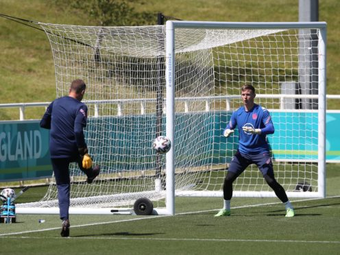 Goalkeeper Dean Henderson (right) has been forced to withdraw from the England squad (Nick Potts/PA).