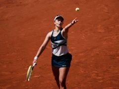 Barbora Krejcikova is through to her first singles grand slam semi-final (Thibault Camus/AP)