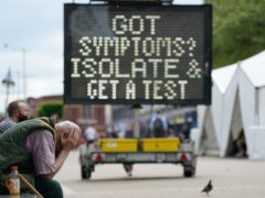 A mobile Covid-19 vaccination centre in Bolton (Peter Byrne/PA)
