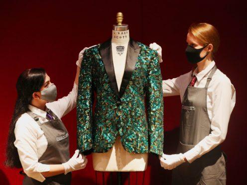 The oak leaf 'Glamouflage' jacket made for Mick Jagger (Jonathan Brady/PA)