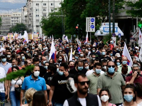 Protests have been held against employment reforms (Michael Varaklas/AP)