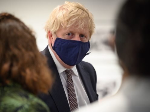 Boris Johnson said a formal announcement on the lifting of restrictions will be made on Monday (Leon Neal/PA)