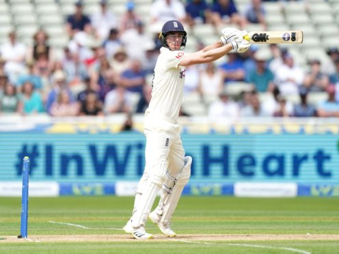 Dan Lawrence was left unbeaten on 81 as England made 303 in their first innings at Edgbaston (Mike Egerton/PA).
