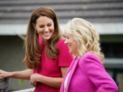 The Duchess of Cambridge and US First Lady Jill Biden during a visit to Connor Downs Academy in Hayle (PA)