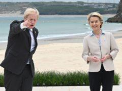 Prime Minister Boris Johnson with president of the European Commission Ursula von der Leyen (Leon Neal/PA)
