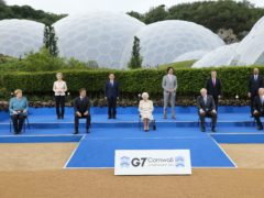 The Queen with G7 leaders at the Eden Project (Jack Hill/The Times)