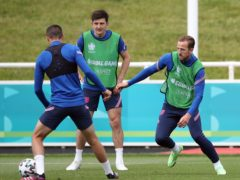Harry Maguire trained with England on Saturday (Nick Potts/PA)