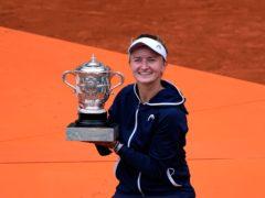 Barbora Krejcikova was a surprise French Open champion (Christophe Ena/AP)