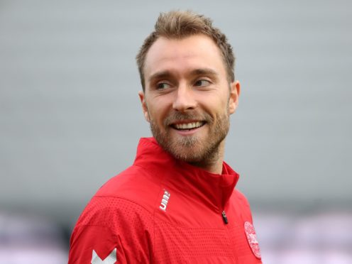 Denmark's Christian Eriksen is undergoing tests in hospital following his collapse (Tim Goode/PA)