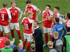 Denmark boss Kasper Hjulmand praised the unity of his squad (Wolfgang Rattay/Pool via AP)