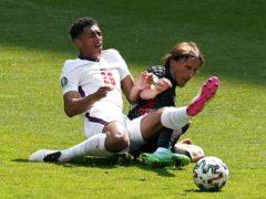 Jude Bellingham, left, made history in England's Euro 2020 opener against Croatia (Martin Rickett/PA)