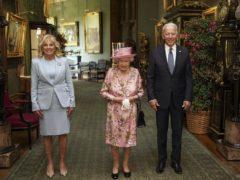 The Queen with US President Joe Biden and First Lady Jill Biden (Steve Parsons/PA)