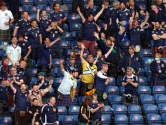 Fans were back inside Hampden on Monday (Jane Barlow/PA)