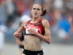 Shelby Houlihan has been banned for four years following a positive test for what she claimed was a tainted pork burrito (Charlie Neibergall/AP)