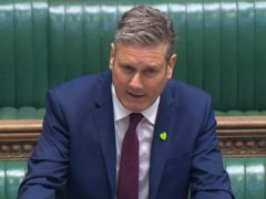 Labour Leader Keir Starmer speaks during Prime Minister's Questions (House of Commons/PA)