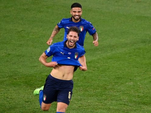 Manuel Locatelli's two goals helped Italy to a 3-0 win over Switzerland (Riccardo Antimiani/AP)
