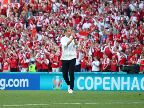 Denmark head coach Kasper Hjulmand is convinced his team can still make the last 16 at Euro 2020 (Wolfgang Rattay/AP/PA)
