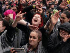 Music fans at Download Festival (Joe Giddens/PA)