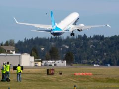 The final version of the 737 Max (Ellen M Banner/The Seattle Times via AP)