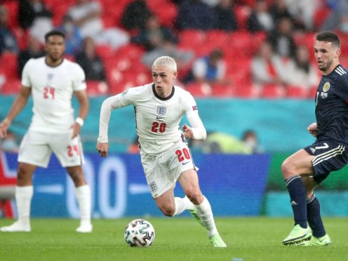 England's Phil Foden controls the ball against Scotland (Nick Potts/PA)