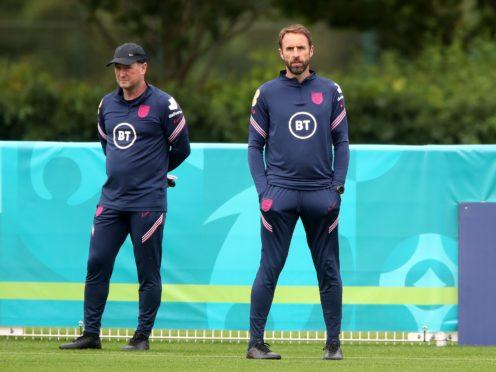 England manager Gareth Southgate (right) alongside his assistant Steve Holland (Nick Potts/PA).