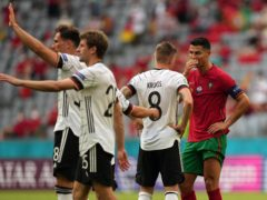 Portugal's Cristiano Ronaldo (right) scored an early goal, but Germany came back to record a memorable victory in Munich (Matthias Schrader, Pool/AP)