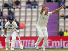 New Zealand's Kyle Jamieson appeals for the wicket of India's Virat Kohli (Adam Davy/PA)