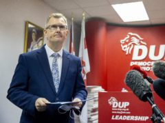 Lagan Valley的DUP MP杰弗里唐纳森爵士将领导党(Liam Mcburney / PA)
