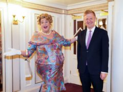 Culture Secretary Oliver Dowden with Michael Ball (Kirsty O'Connor/PA)