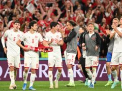 Denmark boss Kasper Hjulmand paid tribute to his players' team spirit after they beat Russia 4-1 in Copenhagen and moved into the Euro 2020 round of 16 (Jonathan Nackstrand/AP)