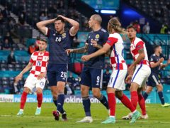 A 'gutted' Scott McKenna, left, has said the quality and experience of Croatia proved the difference as Scotland's Euro 2020 dreams ended in Glasgow (Andrew Milligan/PA)