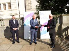 The Prince of Wales receiving the CCJ's Bridge Award (Marc Morris/CCJ)