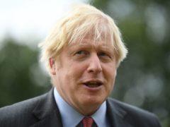 Prime Minister Boris Johnson visits new Ranger Regiment during a visit to Aldershot Garrison in Hampshire to mark Armed Forces Week (Daniel Leal-Olivas/PA)