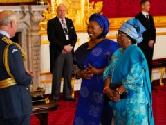 Felicia Kwaku is made an OBE by the Prince of Wales (Aaron Chown/PA)